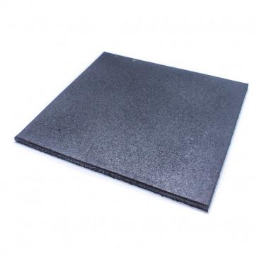 Gummi Gulvflise på 50x50 cm i 15 mm tykkelse.