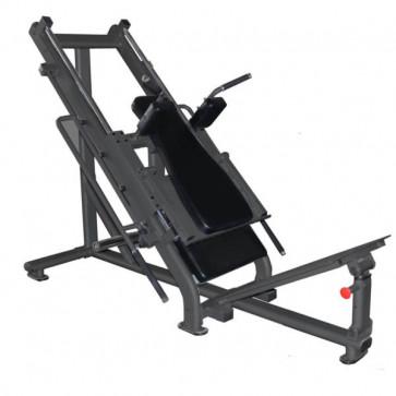 Kombineret benpres maskine siddende og stående hack squat