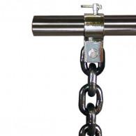Kæden monteres på vægtstangen
