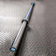 Blå vægtstang med chrome kraver til 50 mm vægtskiver