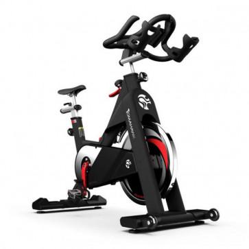Spinning cykel med pulverlakeret stel og 18 kg svinghjul. God spinningcykel til hjemmet.