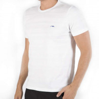 Tshirt i bomuld hvid med spil