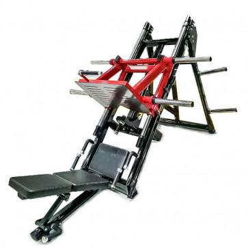 Benpres maskine med plads til 2 rækker vægtskiver på hver side