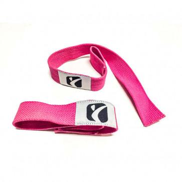 Pink straps til de kvindelige atleter.