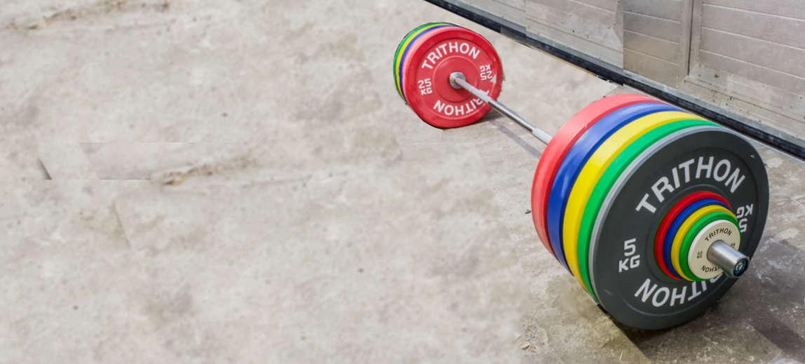 Farvede vægtskiver til vægtløftning